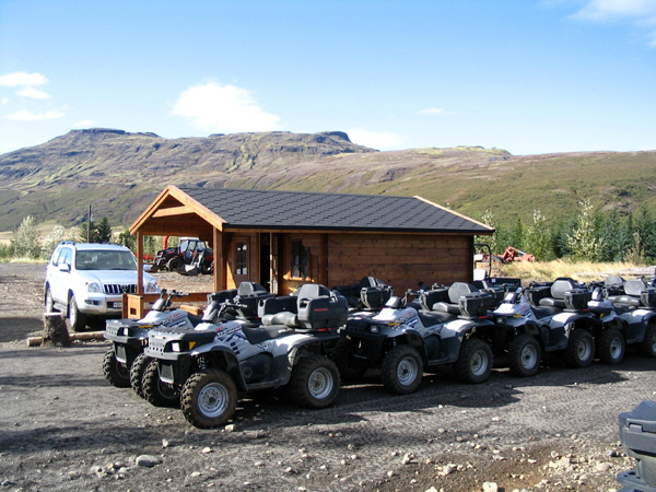 ATVs waiting to be ridden in Iceland