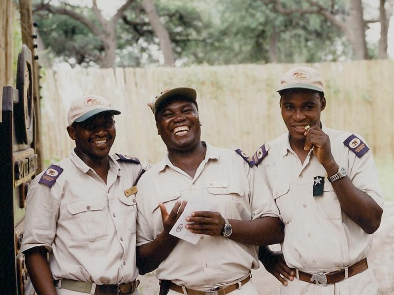 Game park rangers in Botswana